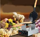 New Commercial Home Rotary Non Stick Pan Stainless Steel QQ Egg Waffle Maker*