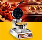 New Single Head Rotary Commercial Non Stick Plates Stainless Steel Waffle Maker*