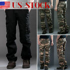 Mens Military Army Cargo Camo Tactical Combat Work Pants Slacks Pocket Trousers