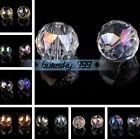 Wholesale 20mm Big Round Faceted Crystal Glass Findings Spacer Loose Beads DIY