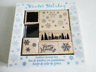 NEW Boxed WINTER HOLIDAY 5 Rubber Stamp Scrapbooking Set ALL NIGHT MEDIA