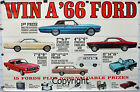 Showroom Poster 1966 66 Ford Galaxie 427 428 Fairlane Mustang Bronco Thunderbird