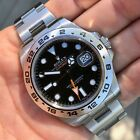 Rolex Explorer II 216570 Stainless Steel GMT Oyster Black Wristwatch Box Papers