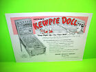 Gottlieb KEWPIE DOLL Original 1960 Flipper Game Pinball Machine Promo Flyer Rare