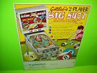 Gottlieb BIG SHOT Original 1974 Flipper Game Pinball Machine Promo Sales Flyer