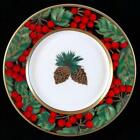 FITZ AND FLOYD HOLIDAY PINE BONE CHINA BREAD AND BUTTER PLATE 6-3/4