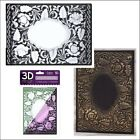 English rose embossing folder Crafters Companion embossing folders 3D 5x7