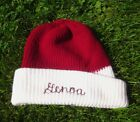 GENOA COMETS winter hat knit beanie OHIO vtg skullcap ski-cap High School 1980s