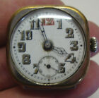 Early 20th century silver plated gents wristwatch