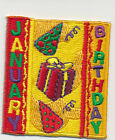 Girl Boy Cub JANUARY Birthday month Fun Patches Crests Badges SCOUTS GUIDES