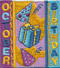 Girl Boy Cub OCTOBER BIRTHDAY Party Fun Patches Crests Badges SCOUT GUIDE Month