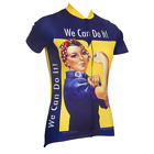 ROSIE THE RIVETER WOMENS SHORT SLEEVE CYCLING JERSEY by Retro Image Apparel