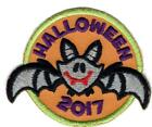 Girl Boy Cub HALLOWEEN 17 2017 Cute Bat Party Patches Crests Badge SCOUT GUIDE