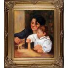 Pierre Auguste Renoir Gabrielle and Jean Hand Painted Framed Canvas Art