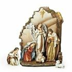 Joseph Studio 7 Piece Christmas Nativity Scene Set with Back Wall 66088