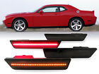USA Front+Rear 4PCS Smoke LED Side Marker Lights 08-14 Dodge Challenger RT SRT8