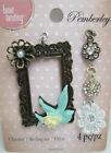 Pemberley Miniature Charm Set Ornate Picture Frame  3 Flower