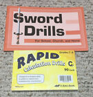ABeka Rapid Calcultion Drills C Sword Drills For School Church and Home