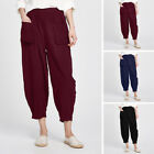 ZANZEA Women Oversize Harem Pants Loose Vintage Ethnic Plus Size Trousers Pants