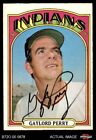 1972 O-Pee-Chee #285 Gaylord Perry Indians Autograph