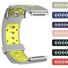 Colorblock Silicone Sports Watch Wristband Strap Bracelet+Holes For Fitbit Blaze