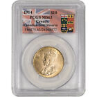 1914 Canada Gold 10 Dollars $10 - Canadian Gold Reserve - PCGS MS63