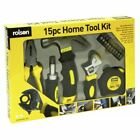 15PC TOOL KIT HAMMER PLIERS WRENCH 3M MEASURING TAPE RATCHET SCREWDRIVER