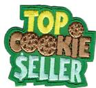 Girl Boy Cub TOP COOKIE SELLER Green sales Fun Patches Crests Badge SCOUT GUIDES