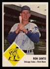 1963 Fleer #32 Ron Santo AUTOGRAPHED SIGNED Chicago Cubs Hall of Fame