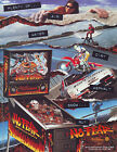 NO FEAR By WILLIAMS 1995 ORIGINAL NOS FLIPPER PINBALL MACHINE PROMO SALES FLYER