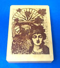 Jill Meyer galerie vernissage rubber stamp inkadinkado woman lady collage 8731 Y