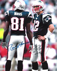 Tom Brady and Randy Moss New England Patriots 8 x10 Reprint Signed Photo