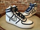 NIKE Vandal Hi Leather 30942 103 White Navy Silver 7 Basketball Shoe NEW NOS