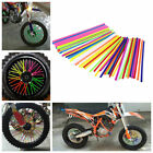 Wheel Spoke Wraps Kit Rims Covers Skins Guard Protector MTB Motocross Dirt Bike