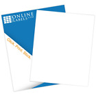 Printable Sticker Paper 100 Sheets White Matte Inkjet Laser 85 X 11