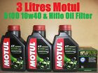 3L MOTUL 5100 10W40 OIL+ HF145 FILTER MuZ 660 SKORPION TRAVELLER 99 00 1999 2000