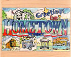 NEW Vintage ALL NIGHT MEDIA RUBBER STAMP HOMETOWN Postcard FREE US SHIP