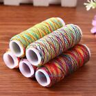 5pcs Rainbow Color Polyster Sewing Thread Reel Hand Quilting Embroidery DIY Cord
