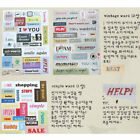 6x Retro DIY Calendar Paper Stickers for Scrapbooking Diary Planner Sticky Hot