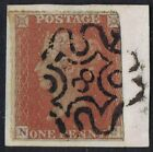 1841 1d Red Pl 39 NC Fine London No 8 in Maltese Cross on piece Cat 16000