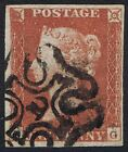 1841 1d Red Pl 39 FG 4m Fine Used London No 10 in Maltese Cross Cat 32000