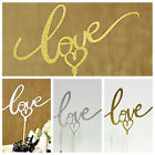 LOVE Cake Topper Sparkle Glitter Gold Wedding Decorating Engagement Party DIY CE