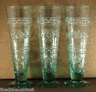 STUDIO NOVA ADIRONDACK GREEN -- (3) PILSNER BEER GLASSES GLASS SET