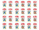 Vintage Retro Dutch Boy Girl Spice or Canister Labels Waterslide Decals KI427