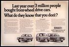 Vintage 1971 Renault Car Auto Two Page Magazine Ad Tear Out Front Wheel Drive