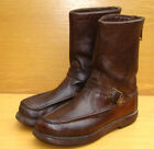 RUSSELL MOCCASIN Zephyr Brown Leather Pull On Boots Mens sz 85 D