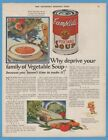 1928 Campbells Vegetable Soup Kid Kitchen Decor Canned Food Camden NJ Ad