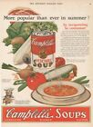 1927 Campbells Vegetable Soup Kid Camden NJ Can Summer 1920s Kitchen Decor Ad