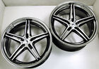ADVENTUS AVS 1 22 x 90 105 BLACK B3 RIMS WHEELS LEXUS LS430 5x1143 +32