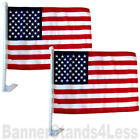 2 PACK CAR WINDOW FLAG 12x18 USA American Flag f